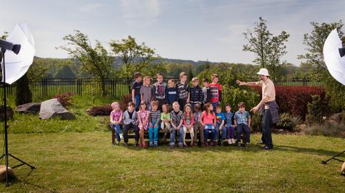 4 pilíře skupinové fotografie dětí