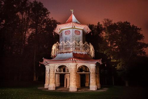 Luminografie v zámecké zahradě Vlašim