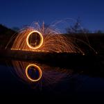 Luminografie s ocelovou vlnou