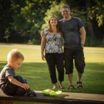 Hanka, Mirek a Mireček v parku