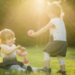 Děvčata v parku